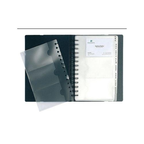 Visitenkartenbuch Exative Exacard Für 120 Karten 60 X 90